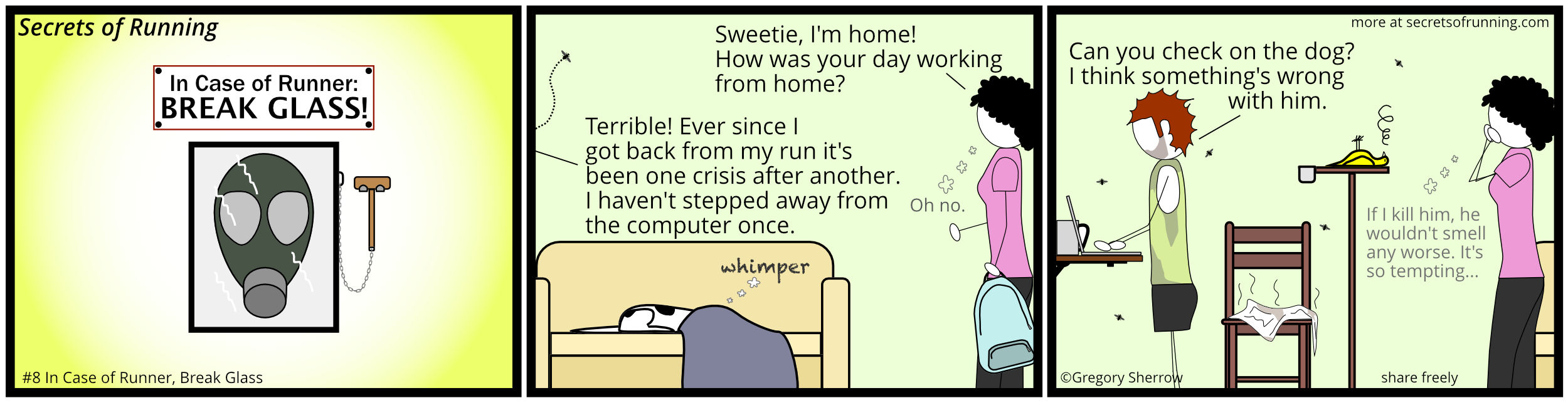 Running humor comic strip